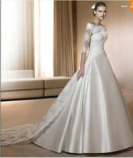 2013 Lace windbreaker& satin Wedding Dress White/Ivory bridal gown Custom plus