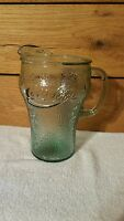 Vintage Coca Cola Pitcher Coke Green Pebble Glass Pitcher