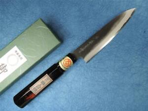 Sakai Genkichi Shirogami Steel Kurouchi Wa-Petty Japanese Knife 140mm