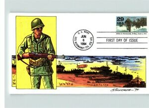 World War II anniversary, ALLIES in NORMANDY, D-Day, 1994 First Day of Issue