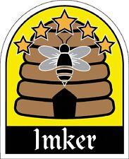 Aufkleber Sticker 8 x 6,5 cm Bienenkorb Bienen Imker 307161-1