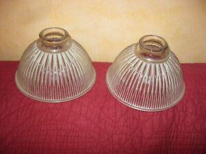 2 vasque coupelle de lustre suspension abat jour en verre