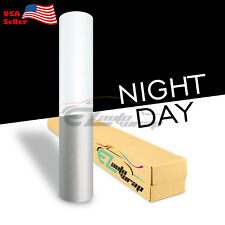 """4""""x8"""" Sample Reflective White Vinyl Wrap Sticker Decal Graphic Sign Adhesive"""