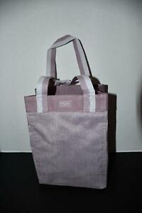 Thirty One SMALL Essential Storage Tote in Purple Crosshatch NWT