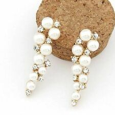 Unbranded Pearl Alloy Drop/Dangle Costume Earrings