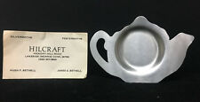 [64702] 1977 PEWTER TEA BAG HOLDER by HILCRAFT PEWTERSHITHS, LAKESIDE, CONN.