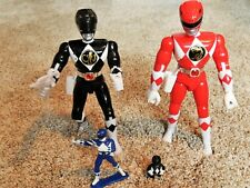 Lot 4 1993 and 1994 Bandai Mighty Morphin Power Rangers Black, Red 8? tall +More