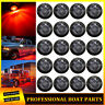 "20x Smoked 3/4"" Red LED Marker Lights Truck Trailer Side Clearance Bullet Light"