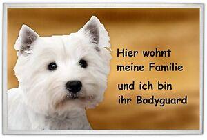West Highland Terrier   / FUßMATTE: FUßABTRETER: TÜRVORLEGER: ABTRETER !