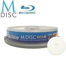 10 Pack Smartbuy M-Disc BD-R 25GB 4X HD White Inkjet Printable Recordable Disc