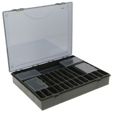 XXL 8TLG TACKLE BOÎTE NOIR + rigide Rig Board & 6x bit box ,Coffre à pêche