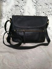 Black The Sak Genuine Leather Crossbody Handbag