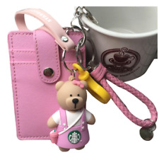 2020 New Starbucks 1pcs Keychain fob Key Chain Pendant Keychain card set 3 Color
