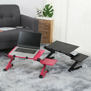 Adjustable Aluminum Laptop Desk Ergonomic Computer Desk Portable TV Bed Lap desk