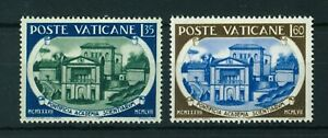 Vatican 1957  Pontifical Academy of Science set of stamps. MNH. Sg 259-260
