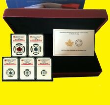2015 Silver Canadian Maple NGC RV PF 70 UC EARLY RELEASE 5 COIN SET MINT BOX/COA