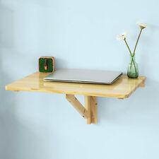 SoBuy® Folding Wood Wall-mounted Drop-leaf Table Desk, 60x40cm,Nature,FWT03-N,UK