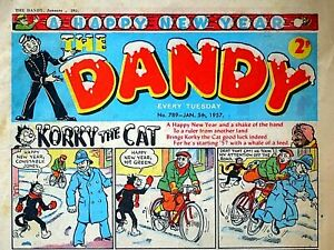 DANDY - NEW YEAR 1957 ISSUE !! 5th JANUARY 1957..FAB 65th BIRTHDAY GIFT !! beano