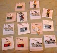 Lot of 14 fantasi Christmas pendants By Dore and Happy Holidays