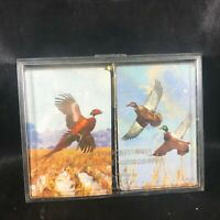 Pair of Vintage Brown & Bigelow Playing Cards Pheasant Mallard Duck