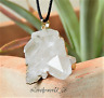 24g natural CLEAR QUARTZ POINTER cluster PENDANT gold plated      SPECIAL GIFT