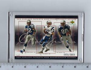 Patriots 2003 Super Bowl Champions Upper Deck Commemorative Card Tom Brady MT
