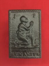Slavery, abolitionist tobacco box, cast iron