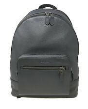 Coach Men's West Backpack In Midnight Navy Pebble Leather F23247 $595
