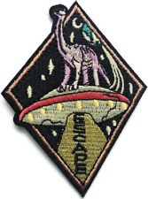 UFO Abduction Dinosaur Escape Space Jurassic Park Patch Embroidered Iron On