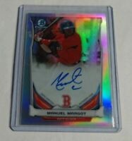 R12,157 - MANNY MANUEL MARGOT - 2014 BOWMAN CHROME- ROOKIE AUTOGRAPH - #/500 -