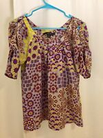 Ya-da 100% Silk Blouse. x-small. Excellent Condition.