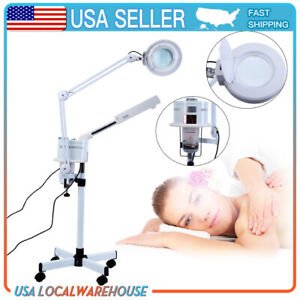 Multifunction 3in1  Ozone Facial Steamer Cold Light 5X Magnifier Floor Lamp