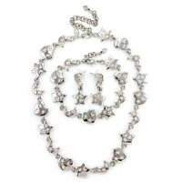 ESTATE Kirks Folly Goddess Necklace Bracelet Earring Set Heart Moon Star Vintage