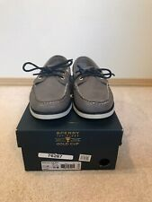 Sperry Top-Sider Gold Cup A/O 2-Eye Grey Sz 10 Men Boat Shoes