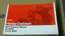 NOS Harley Owners Manual 1977 Sportster XL XLCH 1000 Amf 77 Ironhead Repair Book