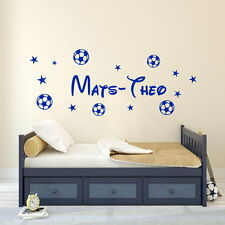 Wandtattoo Kinderzimmer Wallsticker Jungen Wunschnamen Fußball Sterne .