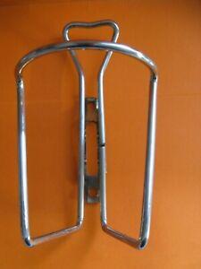 Piece de vélo vintage porte bidon acier chromé