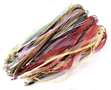 18 inch Necklace Leather Ribbon Silver Plated Lobster Clasp Mixed Colors Q20
