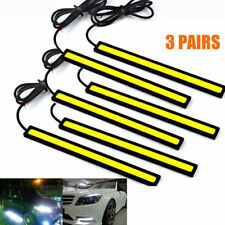 6x 12V Car COB LED Chip Daytime Running Light White Bar Strips Super Bright Kit