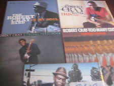ROBERT CRAY VINYL COLLECTION OF 5 TITLES PERSUADER COOKS BUT LOVE MY SOUL TIME
