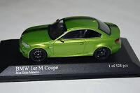 BMW 1er M Coupe 2011 java grün 1:43 Minichamps neu + OVP 410020024