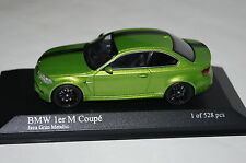 BMW 1er M Coupe 2011 VERDE Java Minichamps 1:43 NUOVO + OVP 410020024