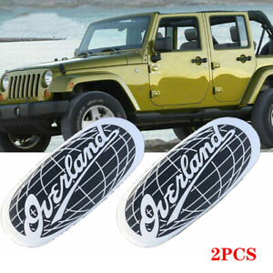2pcs Overland Emblem Car Sticker Badge Decal For JEEP Grand Cherokee Nameplate