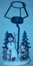 Lamp Style Tealight Snowman Candle Holder Crazy Mountain