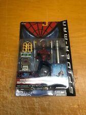 2002 Toy Biz Web Swinging Spider-Man w/Lamppost Series 2 Marvel Action Figure
