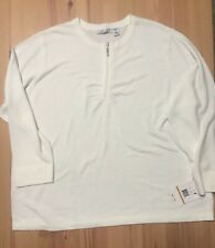 New NWT Women's Luxe 360 By Mercer Street Studio White Sweater Top L/s 3XL Plus