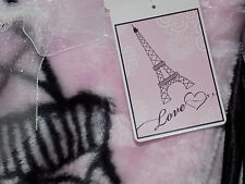 BLANKET PINK EIFFEL TOWER PARIS NEW BABY LOVE HIGH PILE LUXURY Luvable Friends