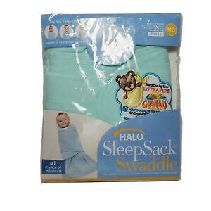 Halo Sleep Sack Swaddle MICROFLEECE Birth to 3 months6-12 lb mint green NEW