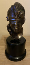 Bronze Blindfolded Greek Goddess Tyche Fortuna Fortune Lady Luck Bust Sculpture