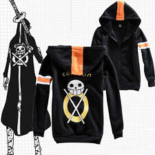 Jackets,One Piece,Trafalgar Law, fermeture éclair manteau costume de cosplay